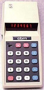 La prima calcolatrice Commodore (CBM) di Ettore