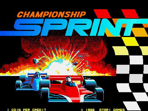 CHAMPIONSHIP SPRINT – Coin-Op (1986)